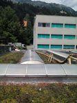 Das Dach der Villa Blanka musste für eine Aufstockung abgesaugt werden. Länge des Saugschlauches bis zu 60 Meter.